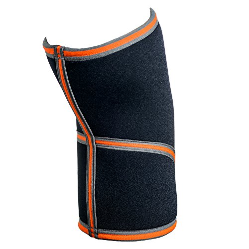 Compra Pinnacle Flex Knee Sleeve Brace (M) 7mm Neoprene Compression Recovery Joint Support Powerlifting Weightlifting Squat Wrap Reduce Pain Swelling Hockey Basketball Volleyball Running Football Injury en Usame