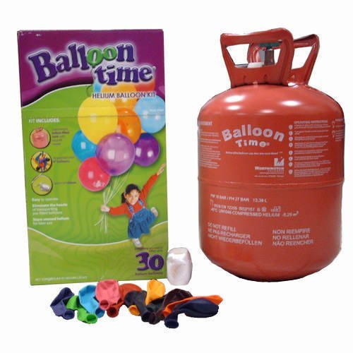 GasePartner Helium Tank, Balloon Time With 30 Balloons by