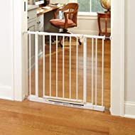 """Easy-Close Gate"" North States: The multi-directional swing gate with triple locking system - Ideal for doorways or between rooms. Pressure mount, fits openings 28"" to 38.5"" wide (29"" tall, White)"