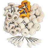 1Inch Polishing Buffing Wheel Set,Wool Felt Cotton
