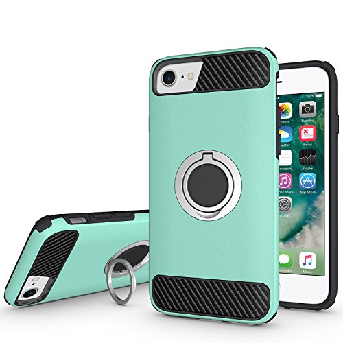 - Ownest iPhone 7 Case,iPhone 8 Case with Armor Dual Layer 2 in 1 with Extreme Heavy Duty Protection and Finger Ring Holder Kickstand Fit Magnetic Car mount for iPhone 7,iPhone 8-Mint
