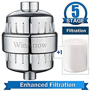 winarrow 5 stage high output universal shower filter with replaceable filter cartridge let your. Black Bedroom Furniture Sets. Home Design Ideas