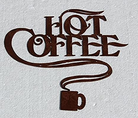 Amazon.com: Hot Coffee And Coffee Cup Metal Wall Art Home/Kitchen Decor:  Home U0026 Kitchen