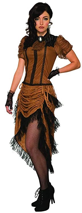 Saloon Girl Costume | Victorian Burlesque Dresses & History Womens Last Dance of The Night Saloon Costume $36.68 AT vintagedancer.com