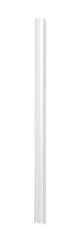 DURABLE 291019 - Dorsino rilegafogli, lunghezza 210 mm, capacità 30 fogli, dorso 3 mm, larghezza 13 mm, trasparente, confezione da 100 pezzi capacità 30 fogli