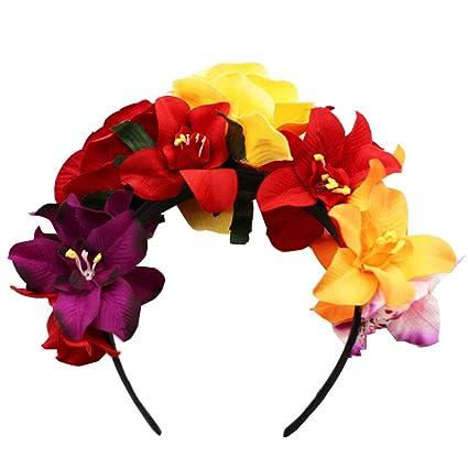 últimos diseños diversificados gran venta excepcional gama de colores Frida Kahlo - Diadema con corona de flores mexicanas para ...