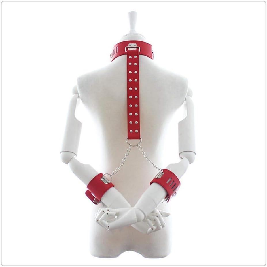 nice shop now Muñequera ajustable y correa de cuero con puño en el cuello, juguete divertido B-ê-d