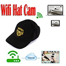 MDTEK@ HD 720P P2P IP Camera Wearable mini WIFI Spy Hat Camera MINI Covert Hat Cap Camcorder Portable DV Camcoder Wifi Nanny Camera Support IOS/Android PC iPad Video Recorder