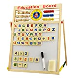 Children Wooden Double-Side Magnetic Drawing Board Chalkboard Learning and Educational Toys