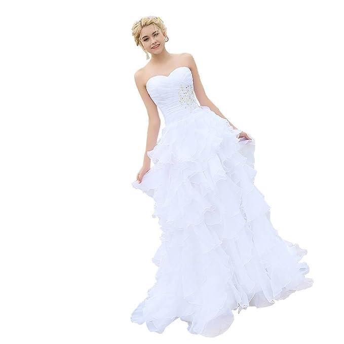 Beaded Ruffled Organza Wedding Dress Sheath