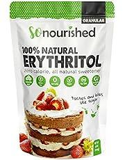 So Nourished Erythritol Sweetener Granular (454 g / 1 lb) - No Calorie Sweetener, Non-GMO, Natural Sugar Substitute (454 Grams)