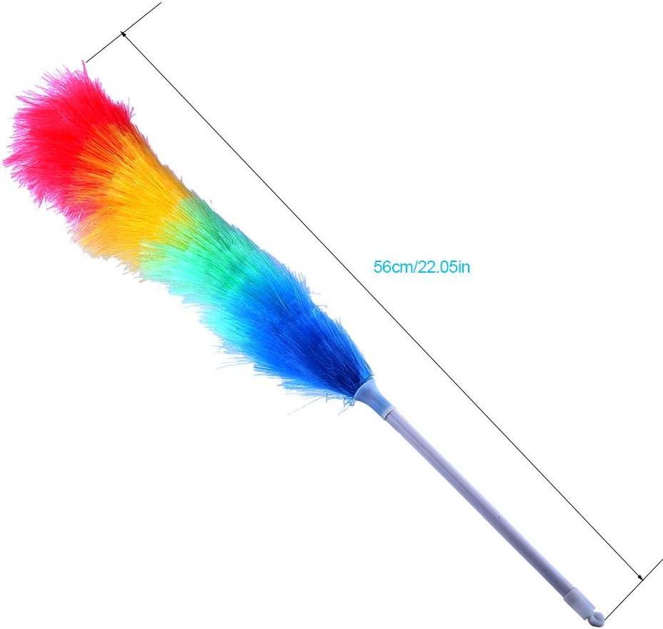 Plumeau plumeau magique doux plumeau magique m/énage produits de nettoyage color/és Anti statique avec manche Long nouvel outil de nettoyage de plumeau