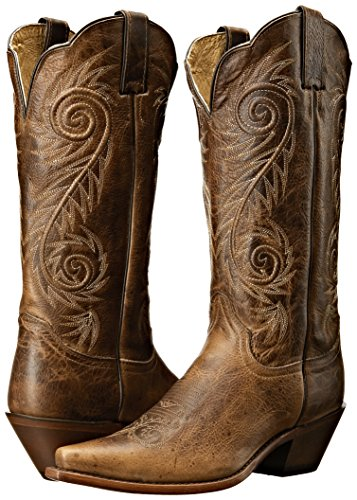 Justin Boots Women's Classic Western Boot Narrow Square Toe,Tan Damiana,8 B US by Justin Boots (Image #6)