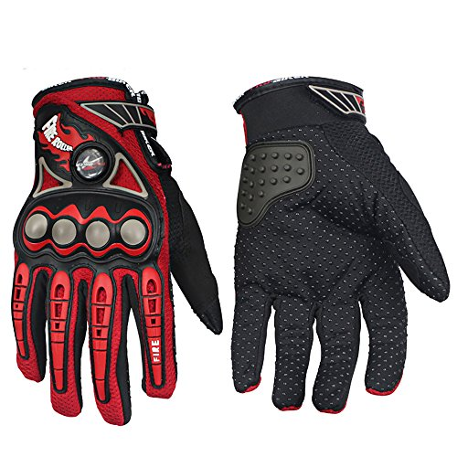 BRAND PRO-BIKER Motorcycle Gloves ATV MTB Moto Racing Motorbike Motocross Motor Riding cycling bicycle gloves (L, Red)