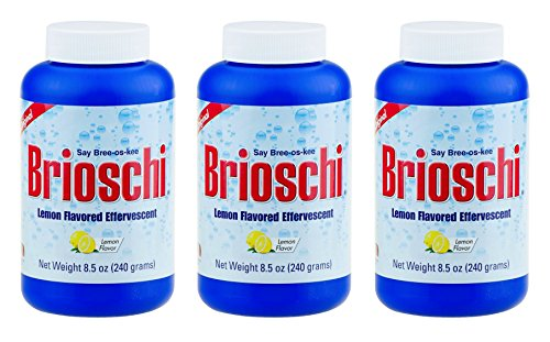 Brioschi Effervescent 8.5oz (3 Bottles) The Original Lemon Flavored Italian Effervescent - 3 Bottles ()