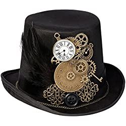 Lillian Rose RA270 Ring Pillow Alternative Steampunk Top Hat Holder, Multicolor