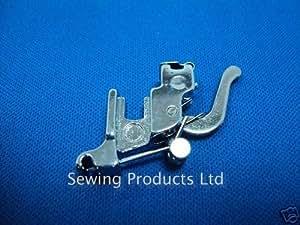 Soporte de pie para máquina de coser, fijación a presión, bajo filo, compatible con brother, janome, toyota