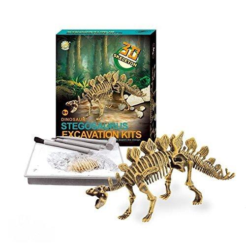 Liberty Imports Dinosaur Skeleton 3D Dino Fossil Bones Excavation Science Kit - ()