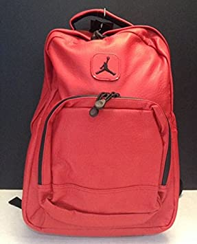 8116a4214ff5d6 Nike Air Jordan 15 Inch Laptop Backpack Jumpman Red Faux Leather School  Book Bag  Amazon.ca  Electronics