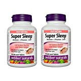 Webber Naturals Super Sleep Natural Formula for Insomnia and Anxiety Tablets (90*2) Twin Pack