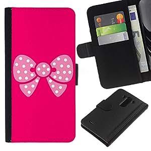 EJOY---La carpeta del tirón la caja de cuero de alta calidad de la PU Caso protector / LG G3 / --Modelo de mariposa rosa
