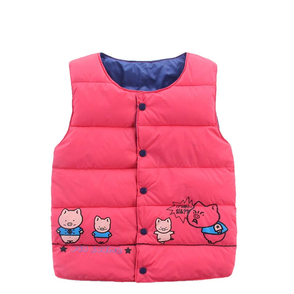 Rosiest Childrens Kids Baby Girls Boy Sleeveless Piglet Print Warm Jacket Waistcoat Tops