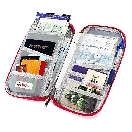 e30baf46b9b GEARONIC TM Travel Passport Organizer Wallet Purse Holder Trip Case  Document Credit ID Card Cash Bag