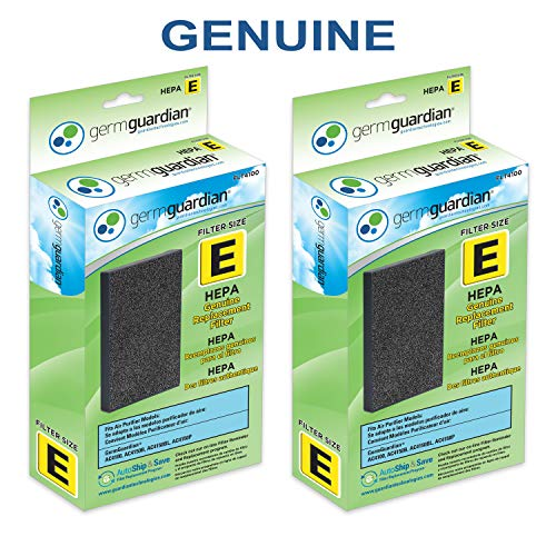 GermGuardian Air Purifier Filter FLT4100 Genuine HEPA Replacement Filter E for AC4100, AC4100CA AC4150BL, AC4150PCA Germ Guardian Air Purifiers ()