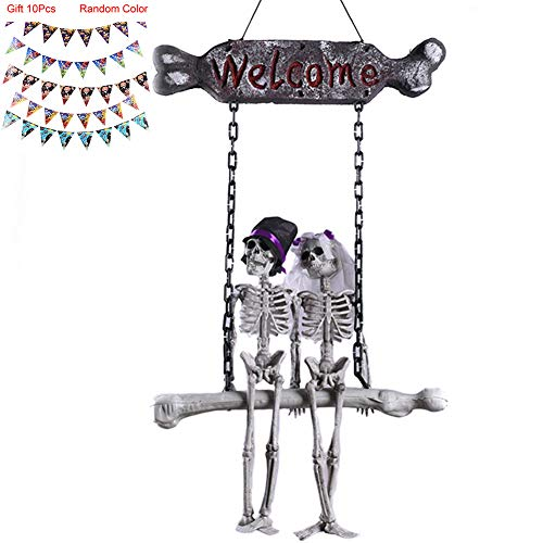 Halloween Door Decoration,Couple Style Pendant for Home,Horror Themed Bar,Carnival Party