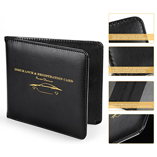 Nogis Slim Thin Leather Wallet Holder For Auto Car