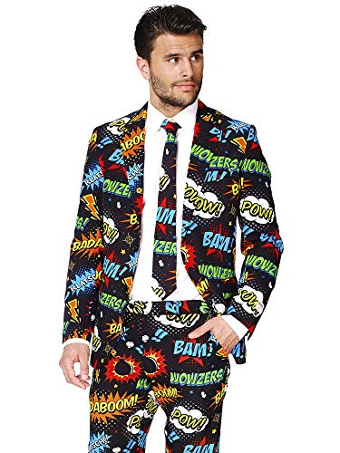 OppoSuits Funny Everyday Suits for Men Comes with Jacket, Pants and Tie in Funny Designs ()
