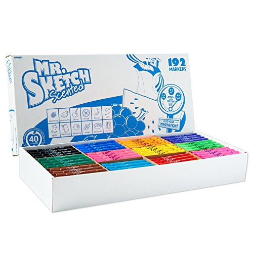 Mr. Sketch 1905311 Scented Markers, Chisel Tip, Assorted Colors, Class Pack, Box of - Box Sketch