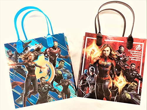(12 pcs Marvel Avengers Legend Birthday Goody Gift Loot Favor Bags Party Supplies (Marvel Avengers)