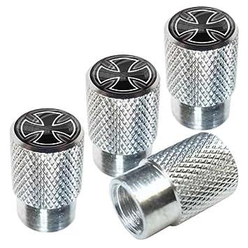 Short Chromed Car Motor Bike Bicycle Tire Valve Dust Caps Bullet Style Custom Spiked Spikes