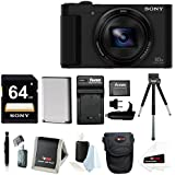 Sony DSC-HX80 High-zoom Point and Shoot Camera with Sony 64GB Memory Card & Focus Memory Card