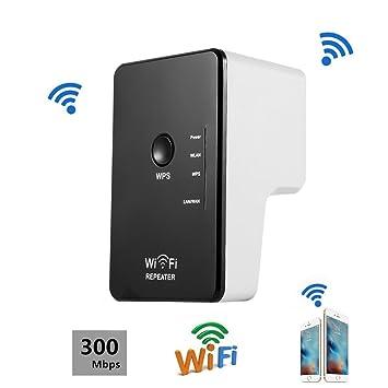 CIMIVA-WR04 Enrutador Inalámbrico Extensor de Red Wifi Repetidor Amplificador Wifi 1 Banda EU Enchufe (300Mbps, Color Negro): Amazon.es: Electrónica