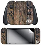 "Controller Gear Nintendo Switch Skin & Screen Protector Set, Officially Licensed by Nintendo – The Legend of Zelda BOTW ""Woodgrain Triforce"" Joy-Con Only – Nintendo Switch; For Sale"