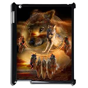 C-EUR Cover Case Wolf Dream Catcher customized Hard Plastic case For IPad 2,3,4