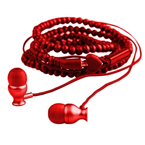 Diadia Headphones Noise Cancelling Sport Earphone Neckband Bracelet Wristlet Headset With Mic for iPhone/ iPhone X/8 PLUS/ 8, iPhone 7 6S 6 Plus, iPhone 5 5S, Samsung Galaxy,Ipad,Gifts for Dad Mum (Re