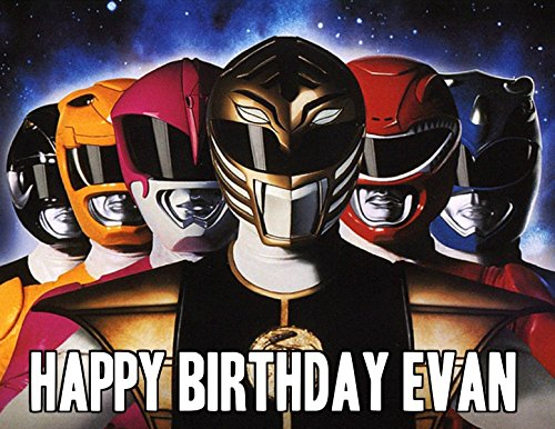 (Power Rangers Megaforce Image Photo Cake Topper Sheet Personalized Custom Customized Birthday Party - 1/4 Sheet - 17017 )