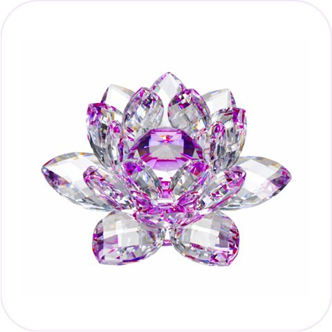 Amlong Crystal Hue Reflection Crystal Lotus Flower With Gift Box