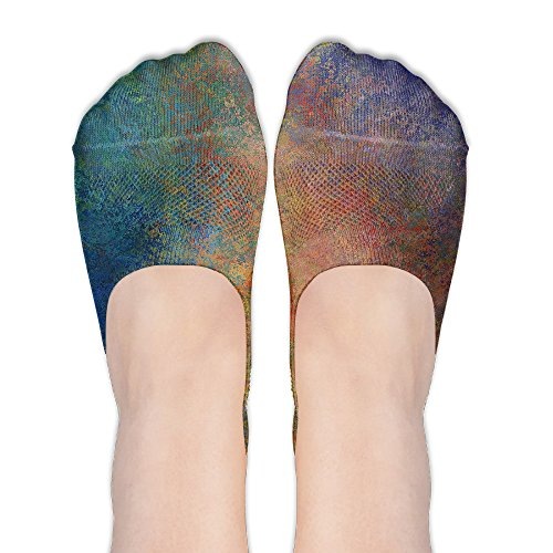 Price comparison product image BRYAN KERNS JR Watercolor Low Cut Ankle Socks Toe Comfortable