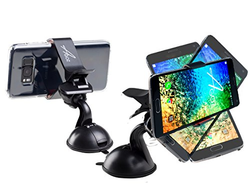 360° Rotating AGOZ Car Windshield Mount Holder Stand Cradle With Sticky Suction Cup For Samsung Galaxy S9 Plus, S9,Note 8, S8, S7,J7, J7 PRO, J7V, J7 Sky,J7 Prime, J3 Emerge,Eclipse,J3V, (Sky Plus Accessories)