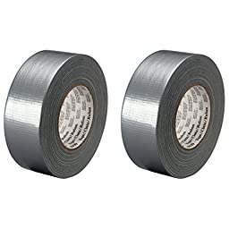2-Pack 3M Scotch Medium Utility Duct Tape Silver, 1.88 in x 60 yd