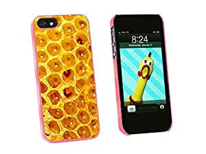 phone covers Graphics and More Honey Comb Bee Snap-On Hard Protective Case for iPhone 5c - Non-Retail Packaging - Pink