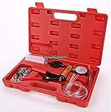 USA Premium Store Brake Fluid Bleeder Hand Held Vacuum Pistol Pump Tester Kit Adapters w/Case