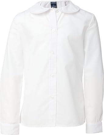 6bcfe2e3e83f1b Amazon.com: French Toast Little Girls' Long Sleeve Peter Pan Blouse (White  6): School Uniform Button Down Shirts: Clothing