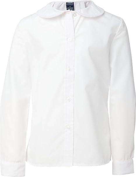 3e3e84d0f2ea99 Amazon.com: French Toast Girls Long Sleeve Peter Pan Blouse: School Uniform  Button Down Shirts: Clothing