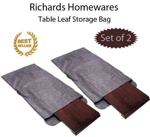 Richards Homewares Table Leaf Storage Bag with Handle-Grey (Set Of 2) Dining Table Leaf Storage