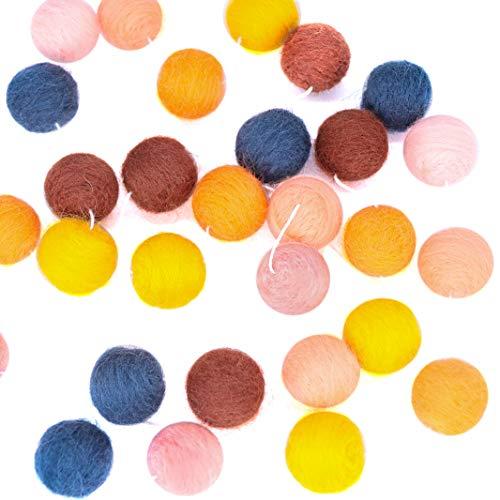 THOMAS HOME DIY Pom Pom Balls Christmas Halloween Decor Wool Felt Balls 20mm 30pcs Baby Shower Party Wall Decorations